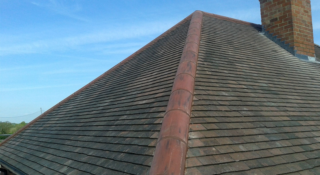 Completed Clay Roof Tiles
