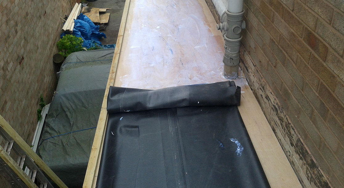 EPDM Flat Rubber Roof Replacement